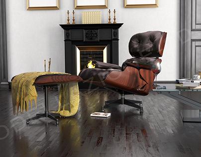 Armchair Eames Lounge 3D