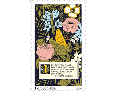 William Morris Stamp