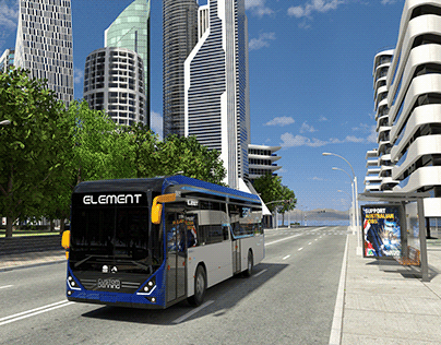 Custom Denning Zero Emission Bus