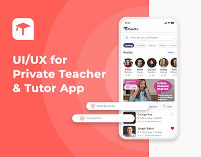 Tutorola - Adobe XD Private Teacher & Tutor App