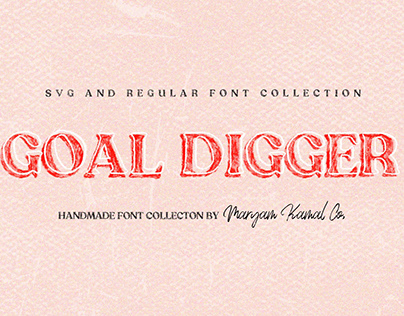 Goal Digger Font Collection