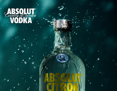 Absolut Vodka Packshot.