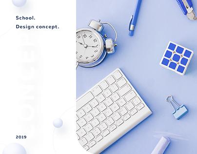 School design concept. UX / UI design