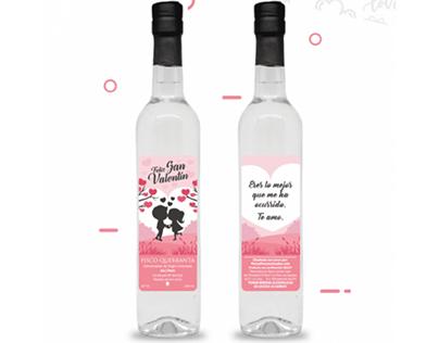 Piscos Personalizados San Valentín - Etiquetado