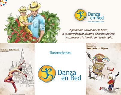 Ilustraciones Danza en Red