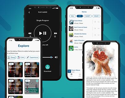 Music Streaming Application UI/UX Design
