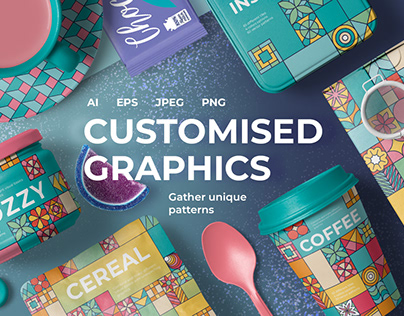 Customised Graphics Square Patterns By: Designnina