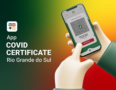App Covid Certificate - Rio Grande do Sul / Brasil