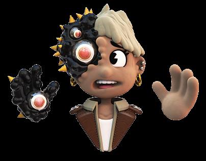 Bug Face Animation
