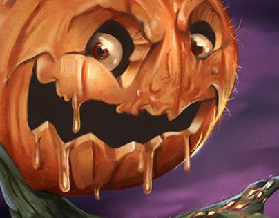 Pumpkin illustration for a challenge