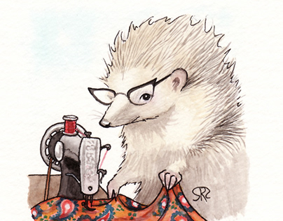 Sarah Portrait as a Hedgehog