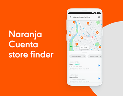 Naranja Cuenta store finder