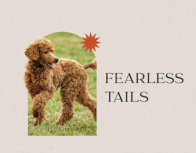 Fearless Tails | Visual identity for a Dog Trainer