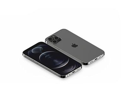 Isometric iPhone 12 Pro Mockup