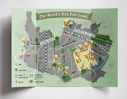 Map - The World's End Pub Crawl
