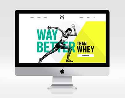 Modus Nutrition Web Branding and Layout