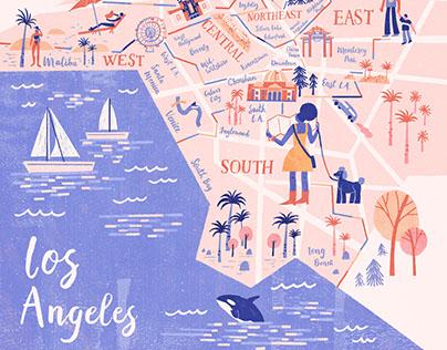 LA Weekly- Map Illustration