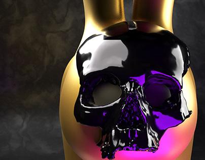 Skull Gold Rabbit
