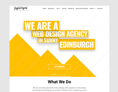 Web design for Joyful Original