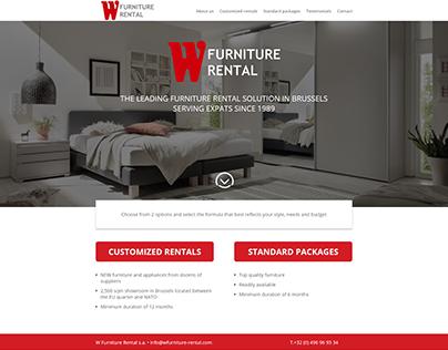 Website W Furniture Rental