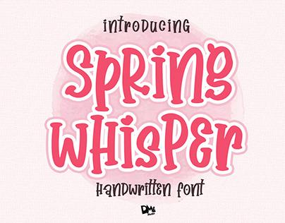 Spring Whisper - Handwritten Font
