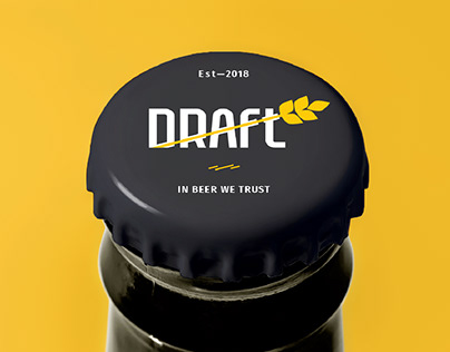 Draft. Beer pub. Branding