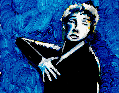 """Edith Piaf Painting"""