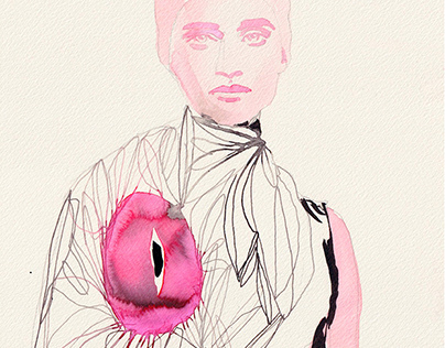 I N K / Watercolor & Ink Fashion Portraits