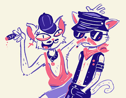 Sleazy Cats Illustration