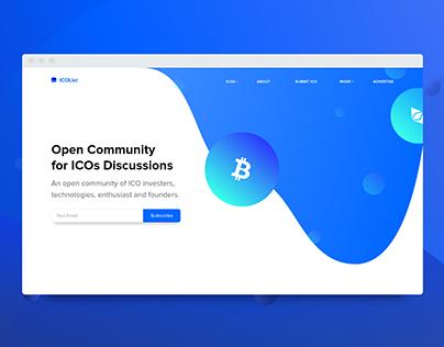 Concept ICO Discussion Landing Page Design