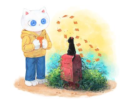 [상대성 고양이]Illustration 09
