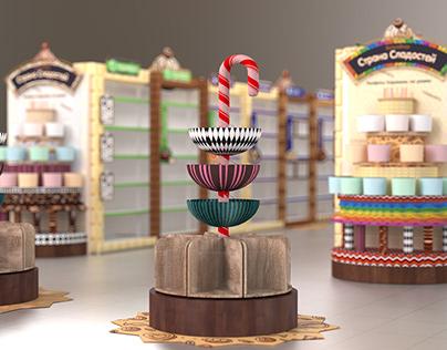 """Shop-in-Shop for Sweets """"Sweet Wonderland"""""""