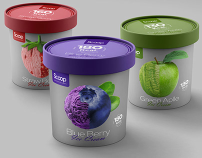 Scoop Ice Cream Packaging Design
