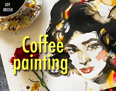 Coffee portraits (painting with coffee)