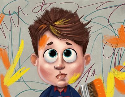 Pintura Digital: Menino Arteiro