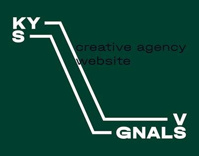 Kyiv Signals creative agency website