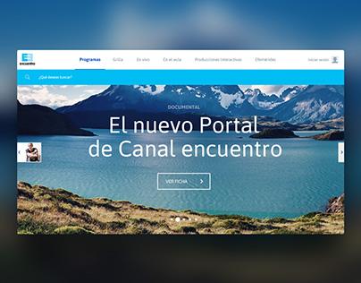 Canal Encuentro Interactive Portal