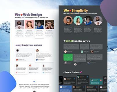 Testimonials UI design for web sites