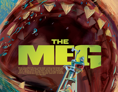 THE MEG- Movie Poster vector concepts