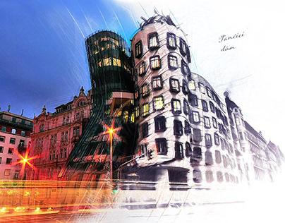 Digital Art - Prague Dancing House
