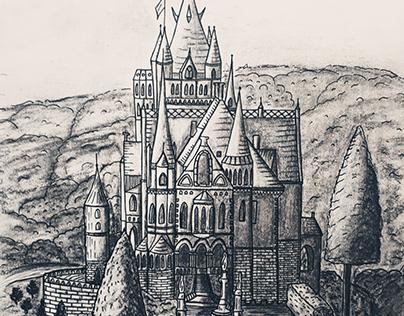 Zamek rysunek