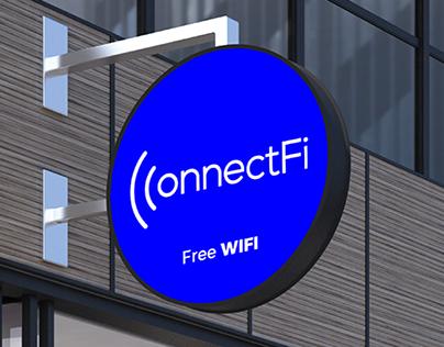 Connectfi logo design and Brand Identity