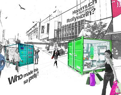 University Work_ Oxfam Unravelled Pop Up Exhibition