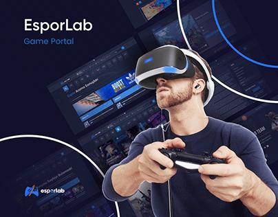 Esporlab Gamer Portal UI/UX Design - Case Study