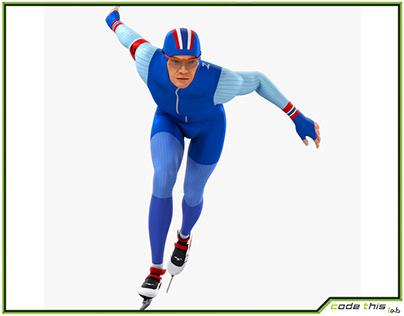 3D Model: Speed Skater HQ002