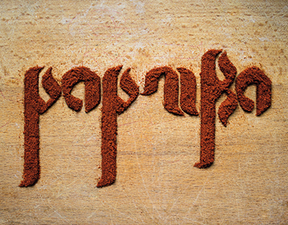 Typographie Paprika