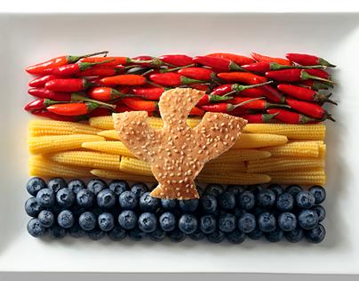 Food flags (food stylism)