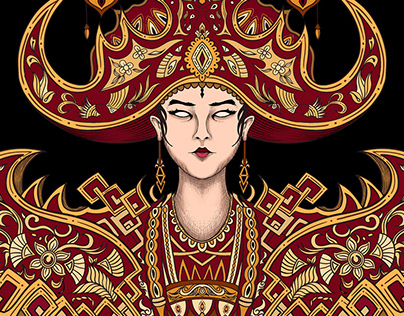 Illustration of Indonesian Dance