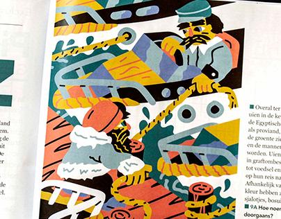 Plus magazine editorial illustration
