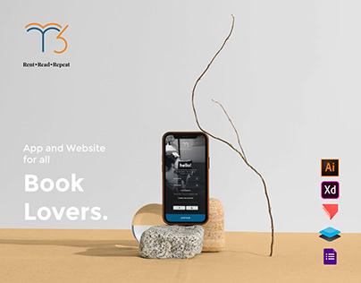 R3 - Online Book Library Concept (App +Website)